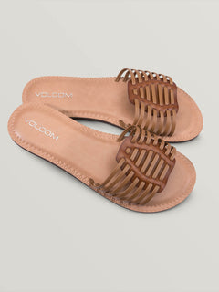 Porto Sandals In Tan, Front View