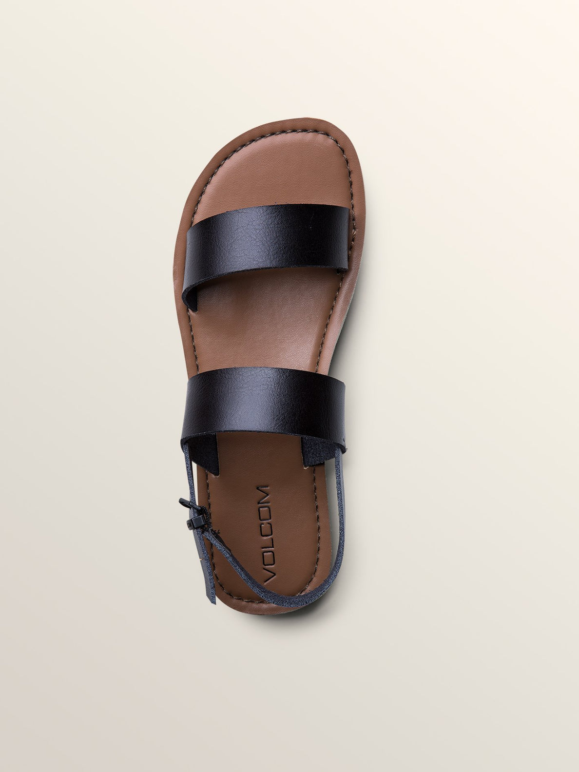 Stone Slide Sandals In Black, Alternate View