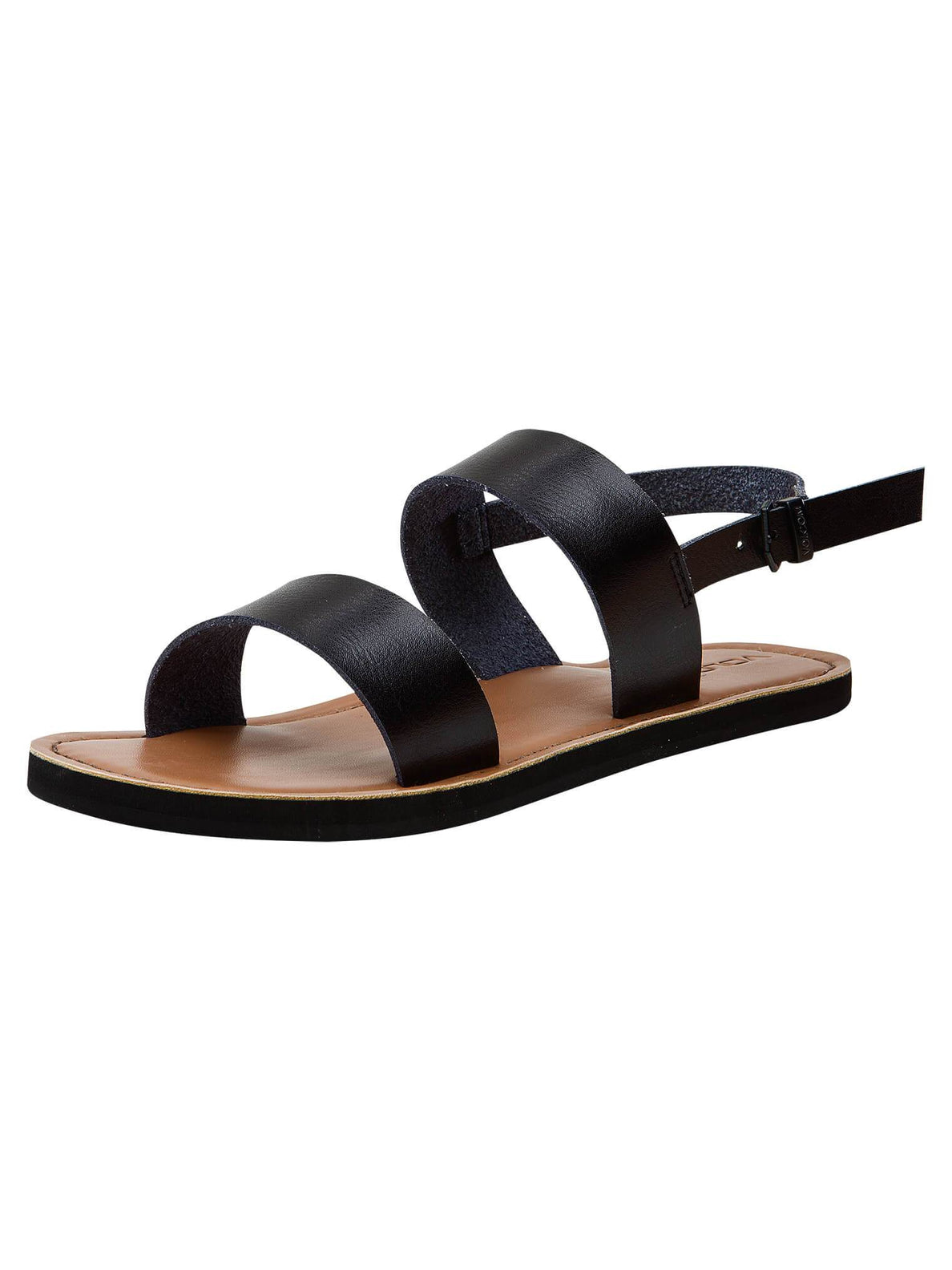 Stone Slide Sandals In Black, Fifth Alternate View