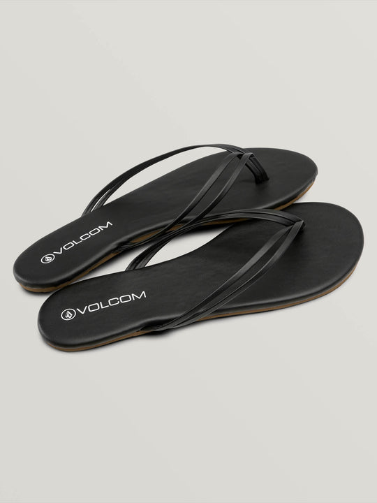 Wrapped Up Sandals In Black, Front View
