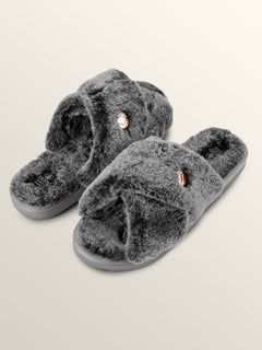 Lived In Lounge Slip Sandals In Heather Grey, Front View