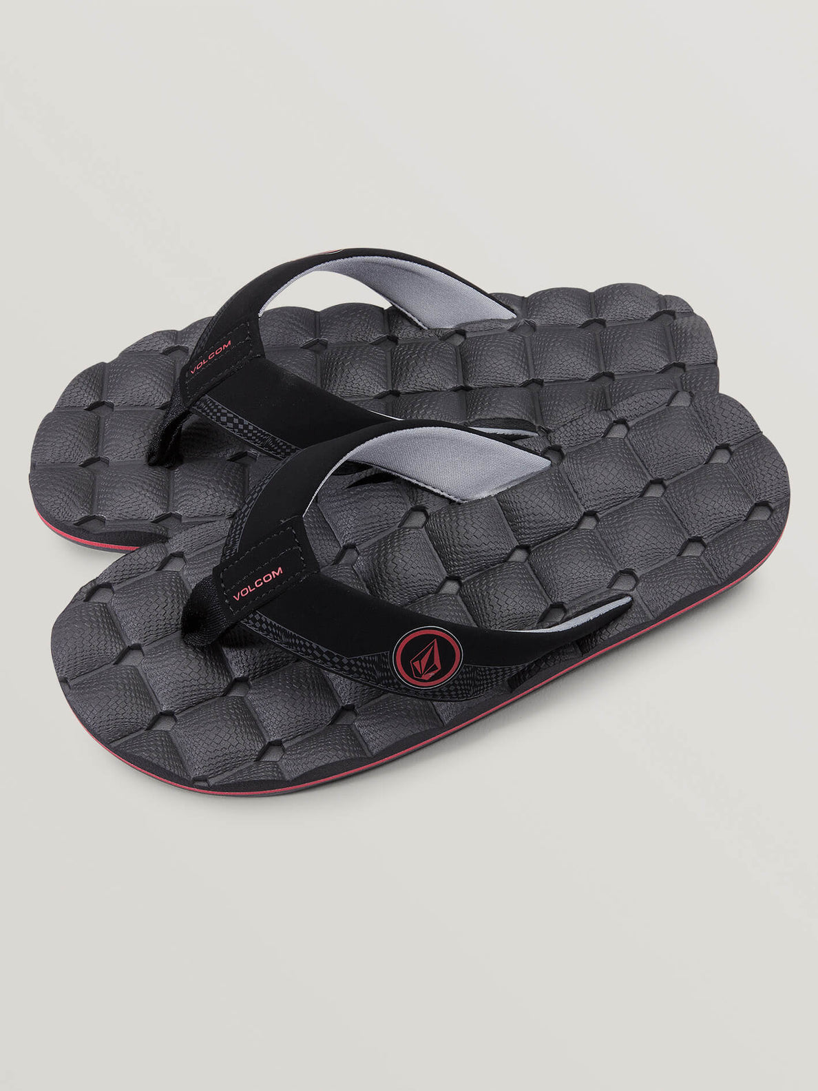Big Boys Recliner Sandals In Graphite, Front View