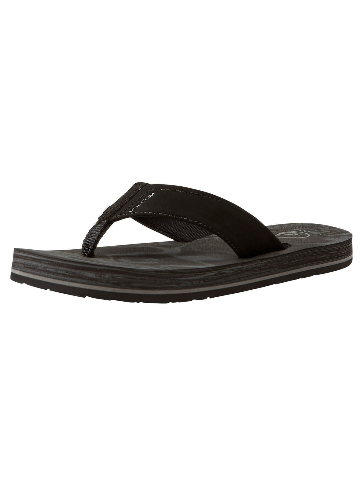Big Boys Victor Sandals In Black Charcoal, Back View