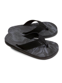 Big Boys Victor Sandals In Black Charcoal, Front View