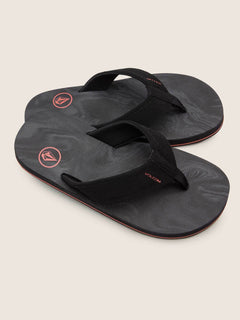 Big Boys Victor Sandals In Black Rinser, Front View
