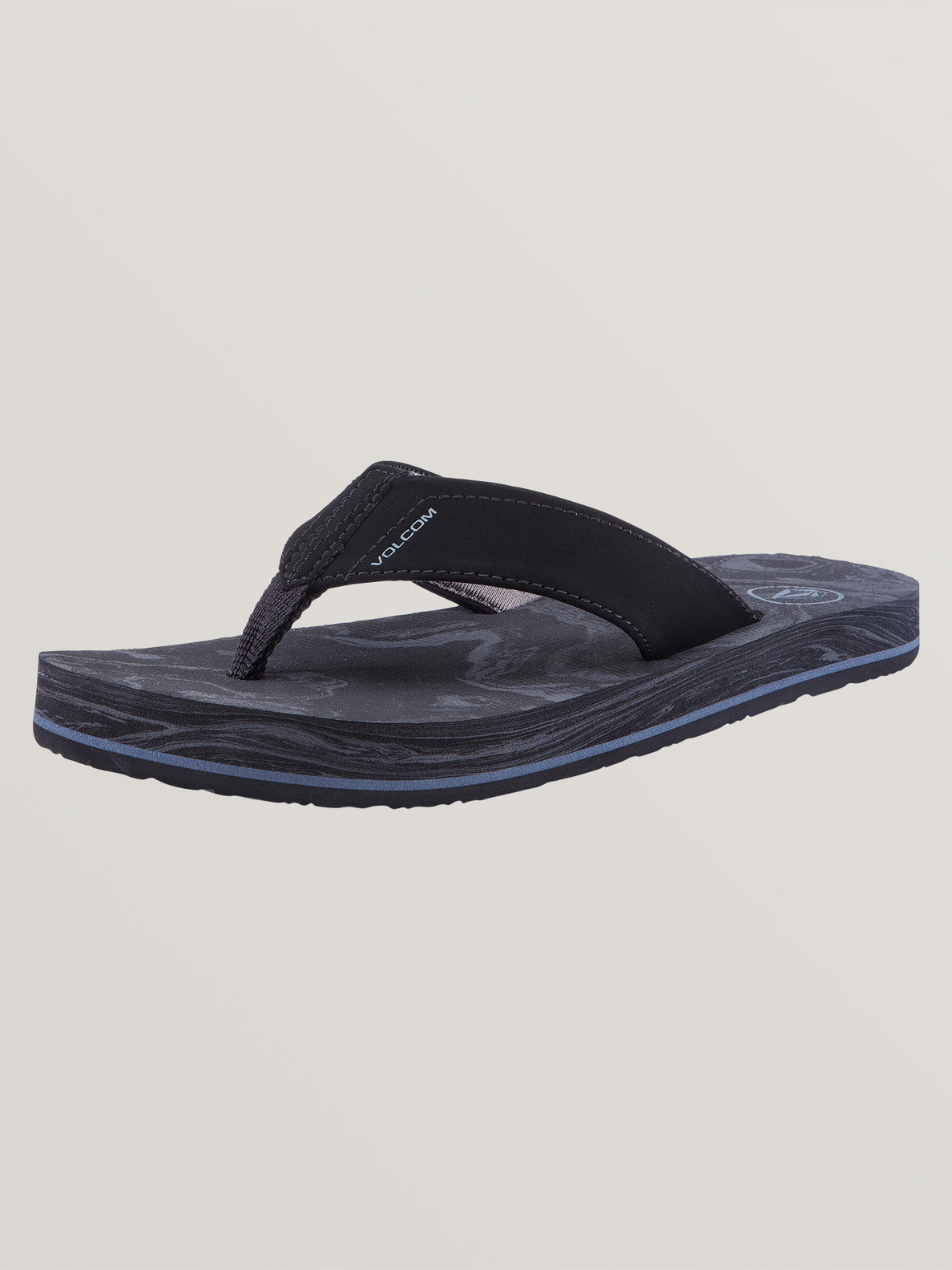 Big Boys Victor Sandals In Grey Blue, Back View
