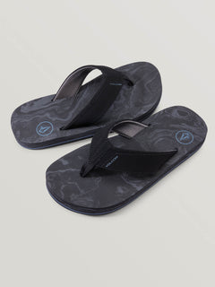 Big Boys Victor Sandals In Grey Blue, Front View