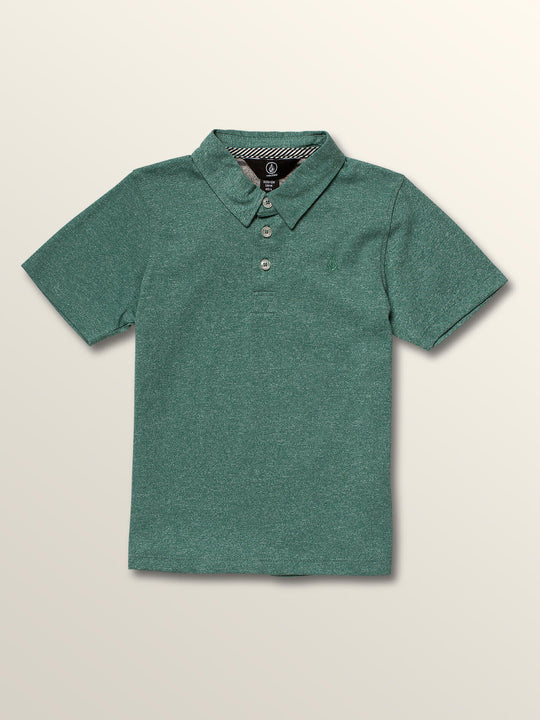 Little Boys Wowzer Polo In Deep Sea, Front View