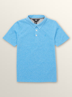 Little Boys Wowzer Polo In Free Blue, Front View