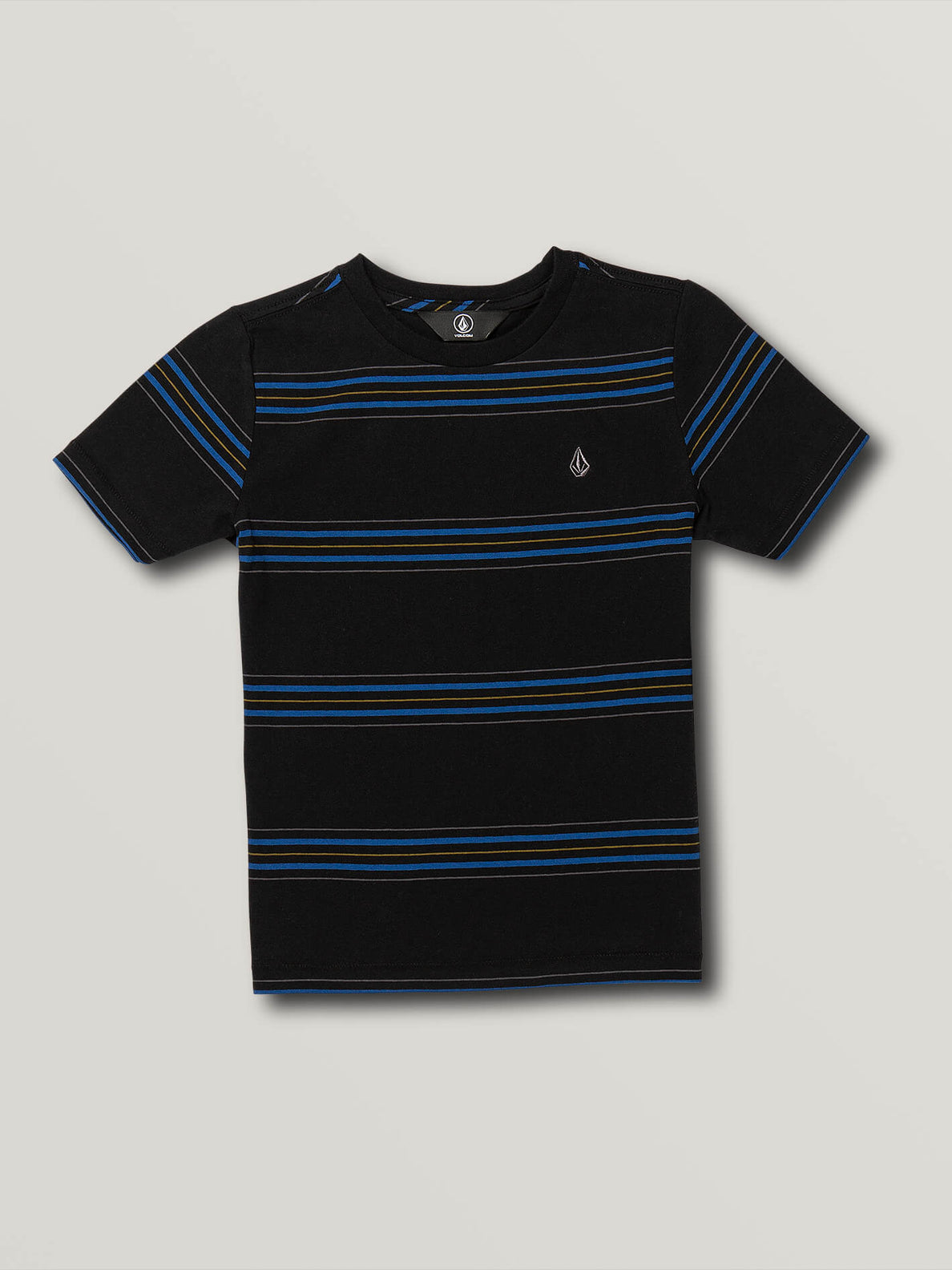 Little Boys Chasen Short Sleeve Crew - Black (Y0141903_BLK) [F]