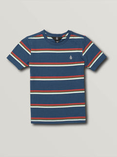 Little Boys Chasen Short Sleeve Crew - Smokey Blue (Y0141903_SMB) [F]