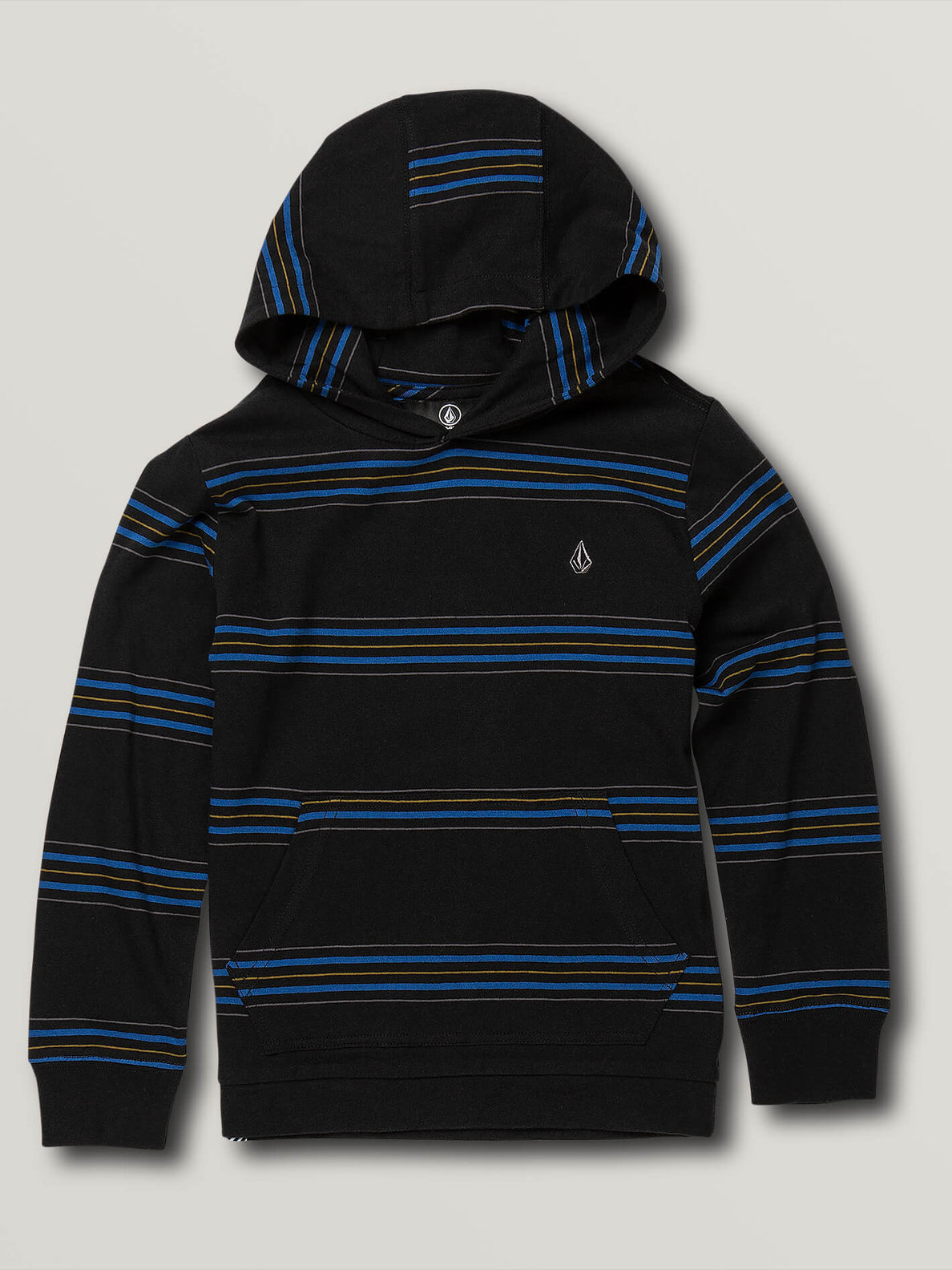 Little Boys Chasen Long Sleeve Hooded - Black (Y0341903_BLK) [F]