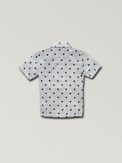 f4cecb3eb ... Little Boys Crossed Up Short Sleeve Shirt In White, Back View
