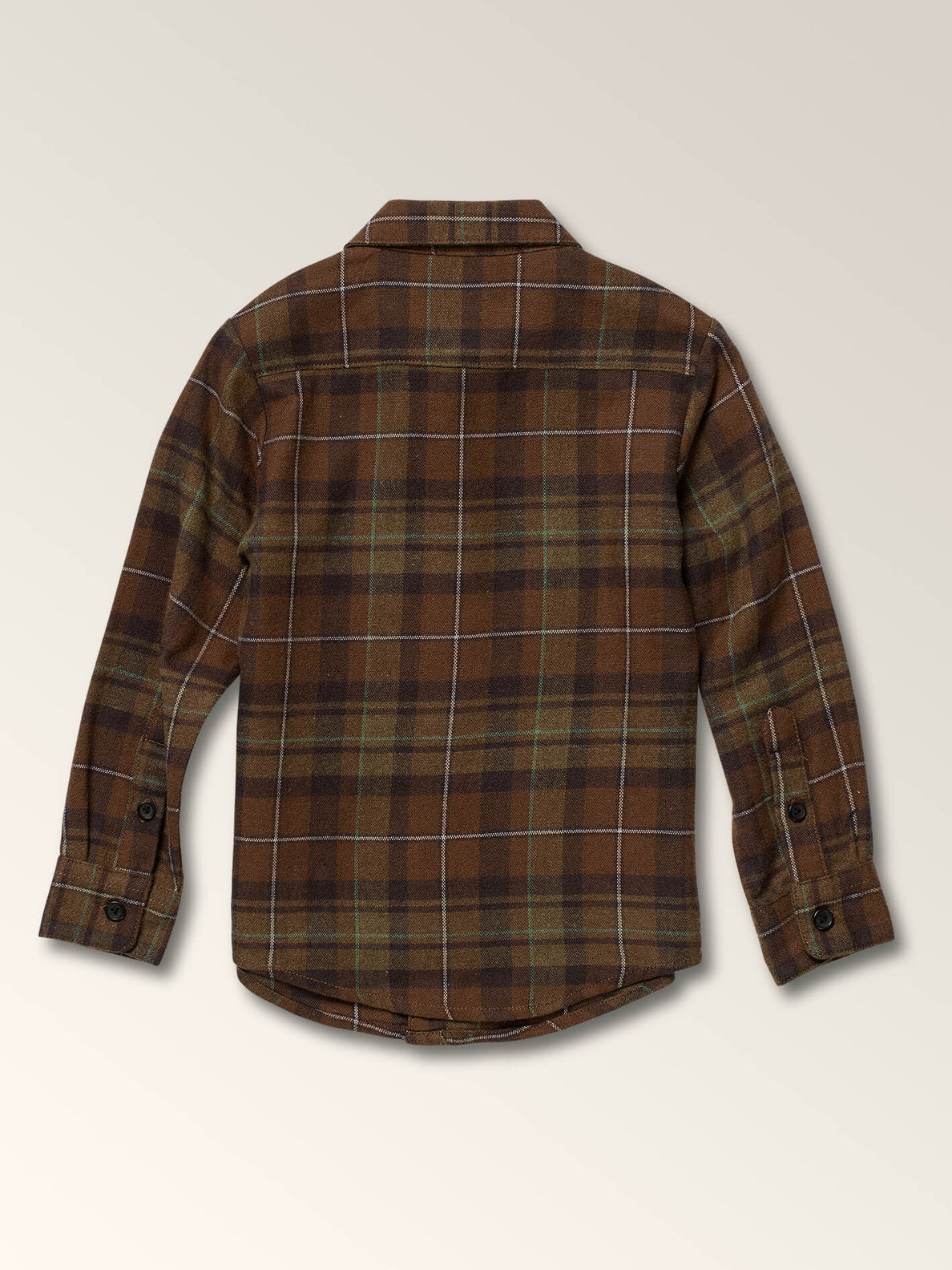 Little Boys Lumberg Long Sleeve Flannel In Vineyard Green, Back View