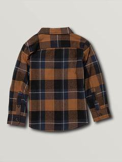 Little Boys Caden Plaid Long Sleeve - Bison (Y0541906_BSN) [B]