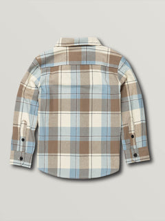 Little Boys Caden Plaid Long Sleeve - White Flash (Y0541906_WHF) [B]