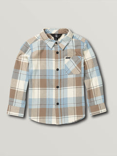 Little Boys Caden Plaid Long Sleeve - White Flash (Y0541906_WHF) [F]