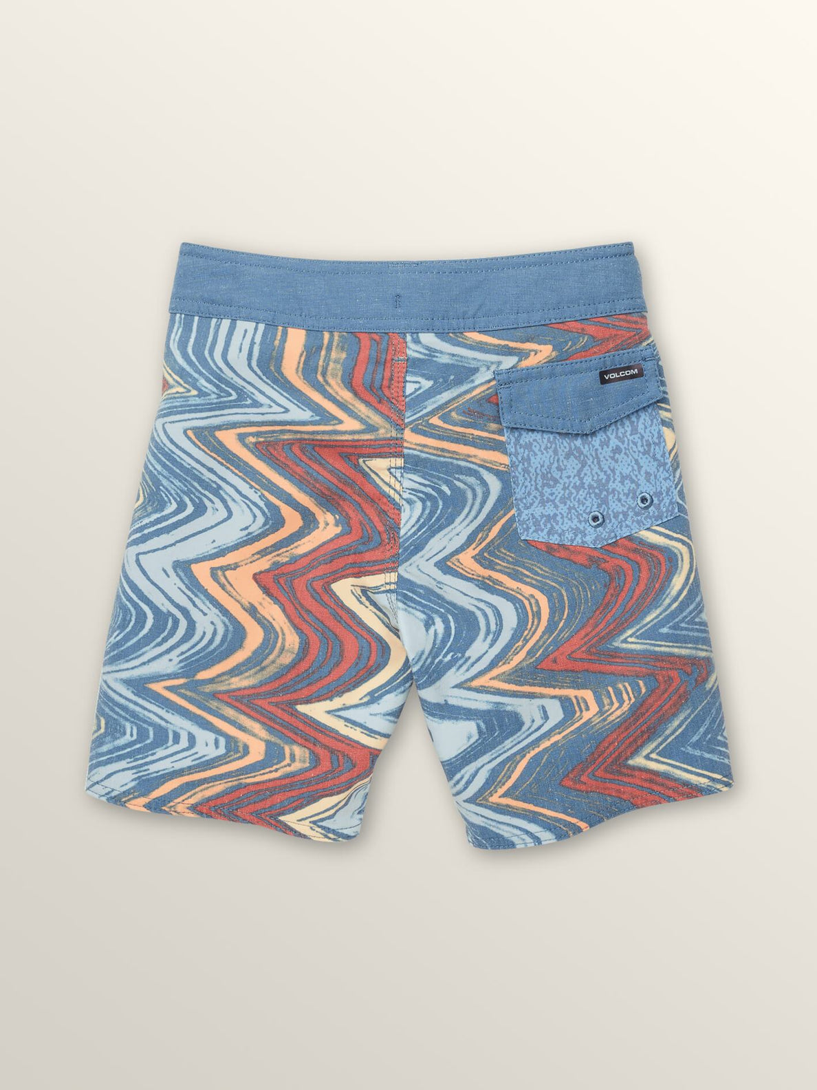 Little Boys Lo Fi Boardshorts In Sunburst, Back View