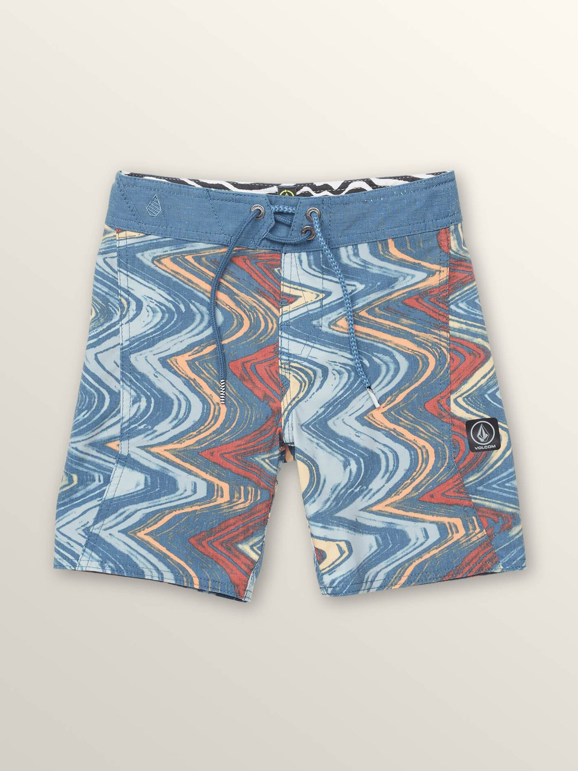 Little Boys Lo Fi Boardshorts In Sunburst, Front View
