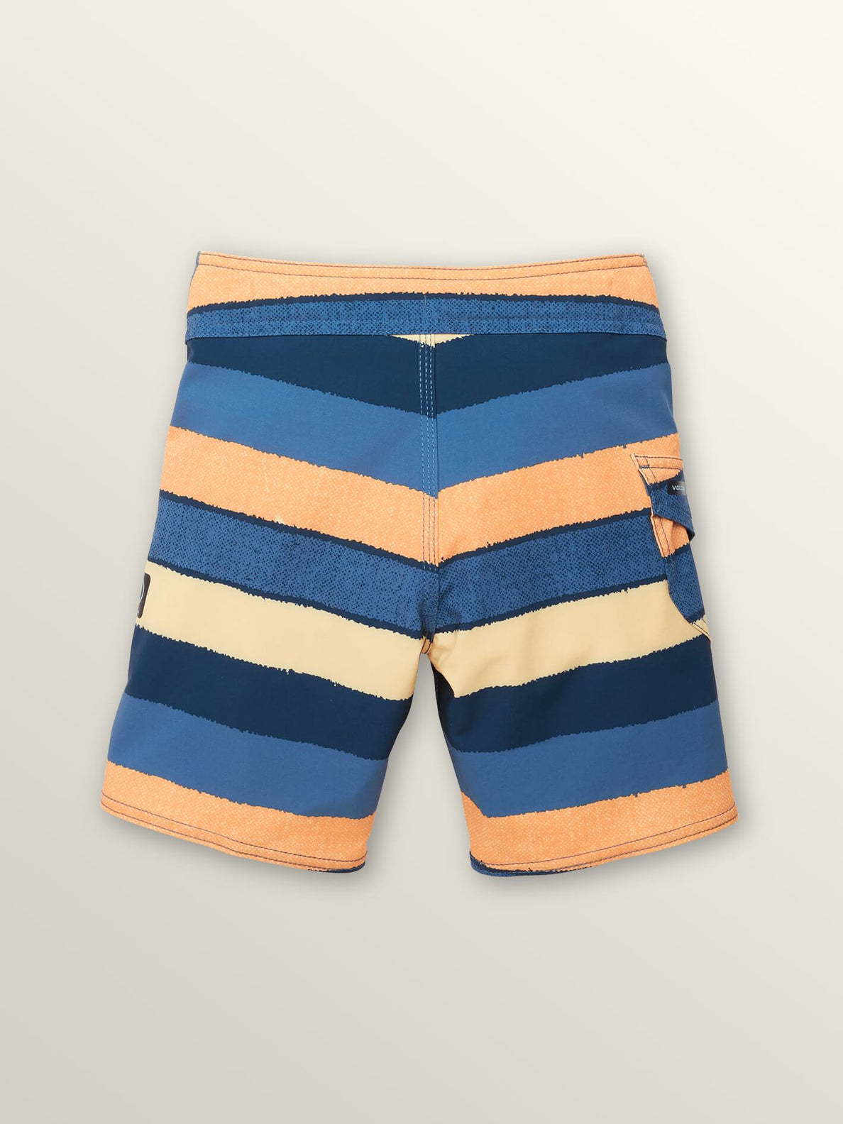 Little Boys Magnetic Liney Mod Boardshorts In Sunburst, Back View