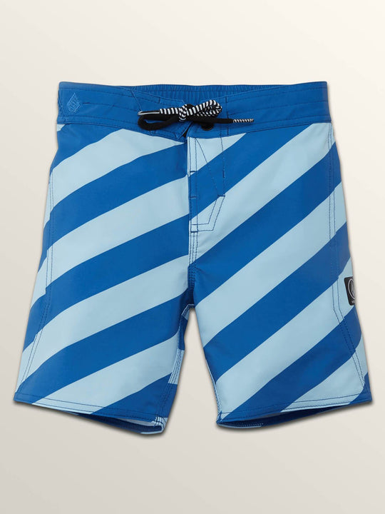 Little Boys Stripey Elastic Boardshorts