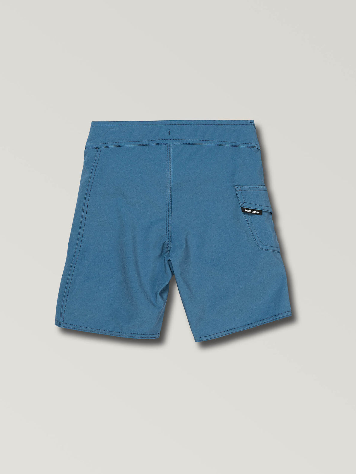 Little Boys Deadly Stones Mod Boardshorts In Airforce Blue, Back View