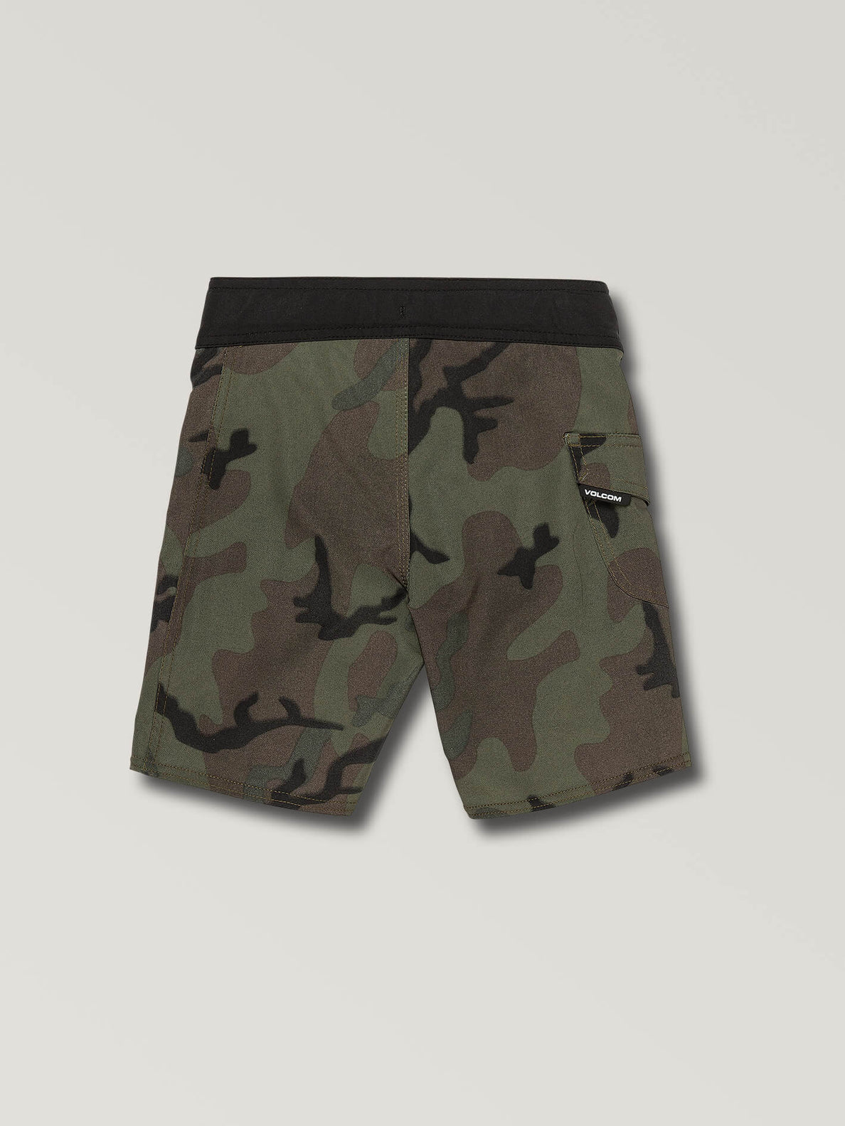Little Boys Deadly Stones Mod Boardshorts In Camouflage, Back View
