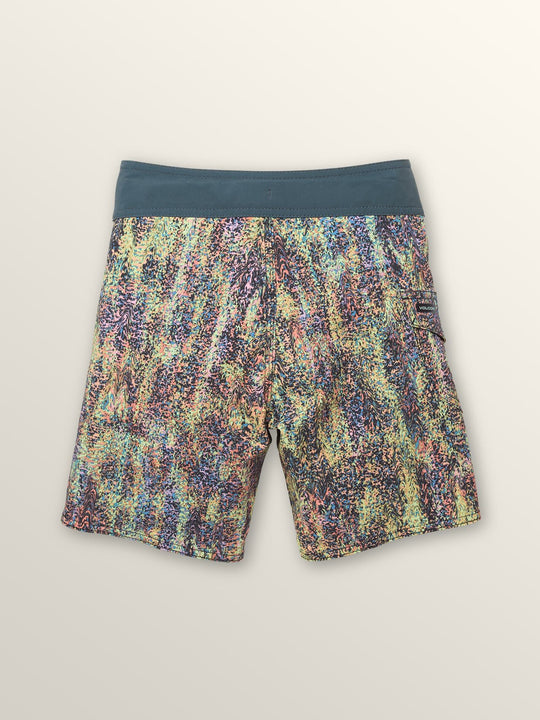 Little Boys Plasm Mod Boardshorts In Stealth, Back View