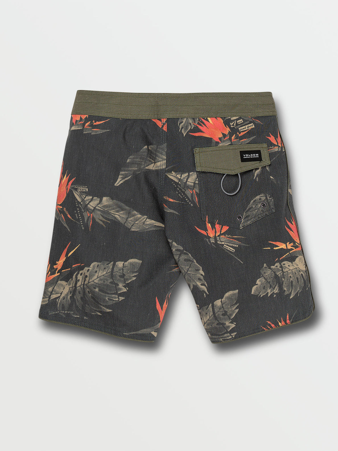 Little Boys Floral Erupter Trunks - Black (Y0832001_BLK) [B]