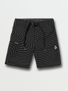 Little Boys Filbert Stripe Mod-Tech Trunks - Black (Y0832030_BLK) [F]