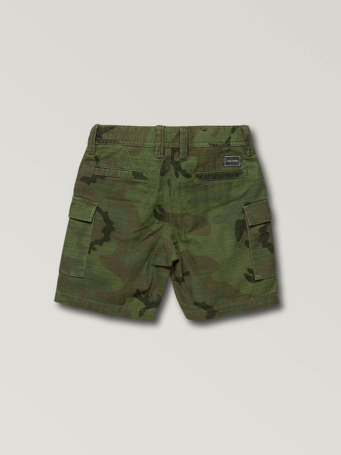 Little Boys Gritter Cargo Shorts In Camouflage, Back View