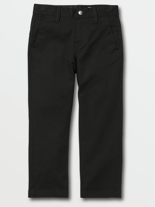 Little Boys Frickin Modern Stretch Chino Pants In Black, Front View