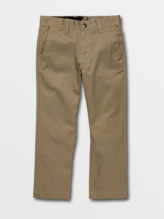 Little Boys Frickin Modern Stretch Chino Pants In Khaki, Front View