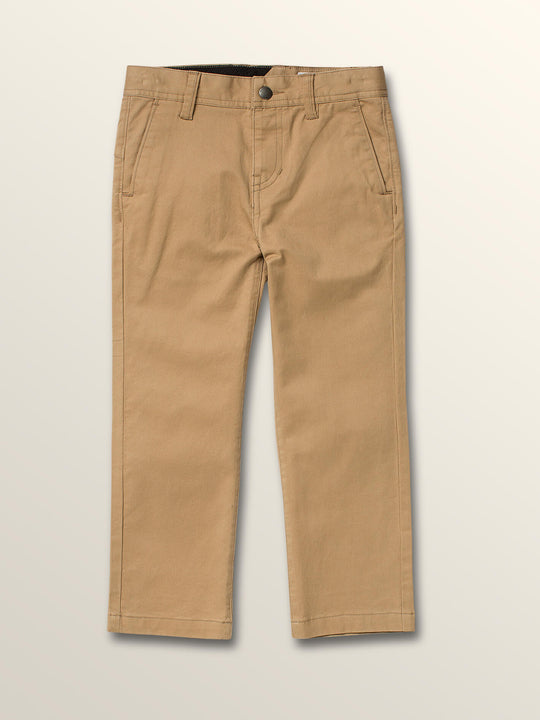 Little Boys Frickin Slim Chino Pants In Gravel, Front View