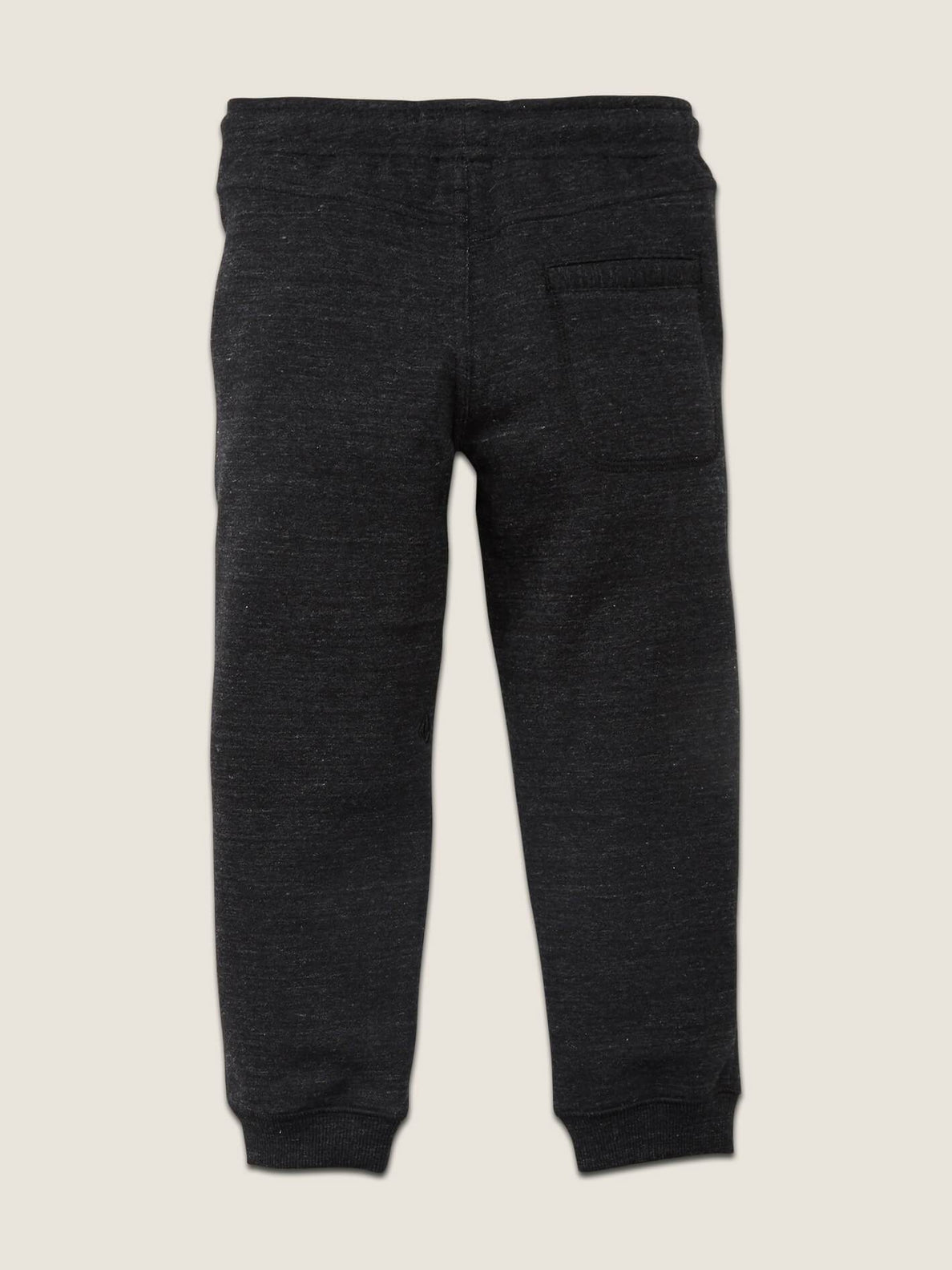 Little Boys Single Stone Fleece Pants In Sulfur Black, Back View