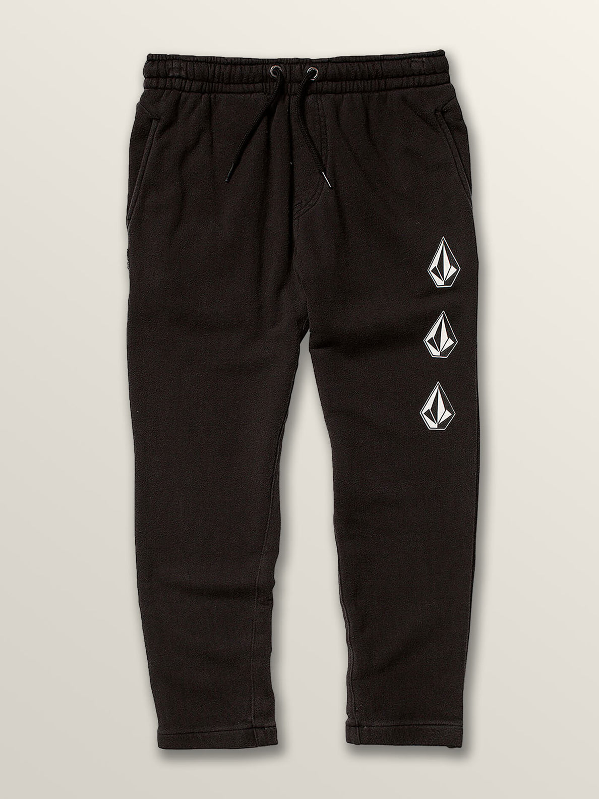 Little Boys Deadly Stones Pants In Black, Front View
