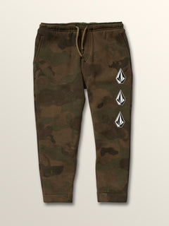 Little Boys Deadly Stones Pants In Camouflage, Front View