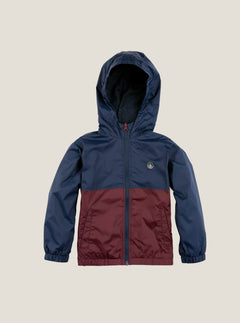 Little Boy's Ermont Jacket In Indigo, Front View