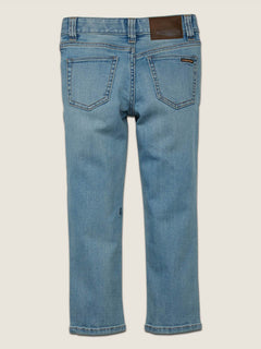 Little Boys Vorta Slim Fit Jeans In Allover Stone Light, Back View
