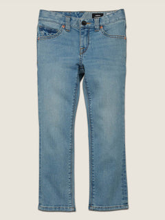 Little Boys Vorta Slim Fit Jeans In Allover Stone Light, Front View
