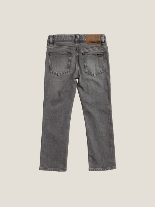 Little Boys Vorta Slim Fit Jeans In Power Grey, Back View
