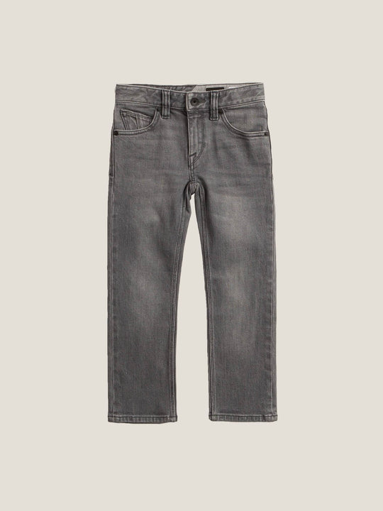 Little Boys Vorta Slim Fit Jeans In Power Grey, Front View