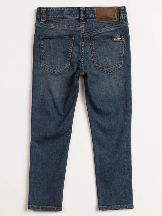 Little Boys Solver Modern Tapered Jeans In Dust Bowl Indigo, Back View