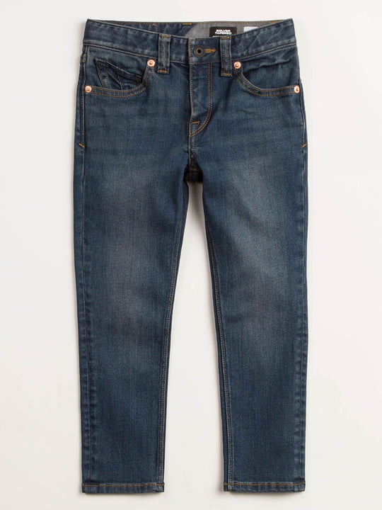 Little Boys Solver Modern Tapered Jeans In Dust Bowl Indigo, Front View