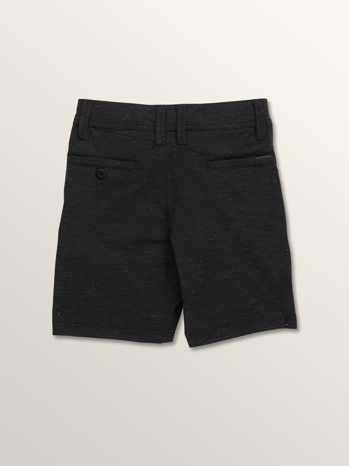 Little Boys Frickin Surf 'N Turf Slub Hybrid Shorts In Black, Back View