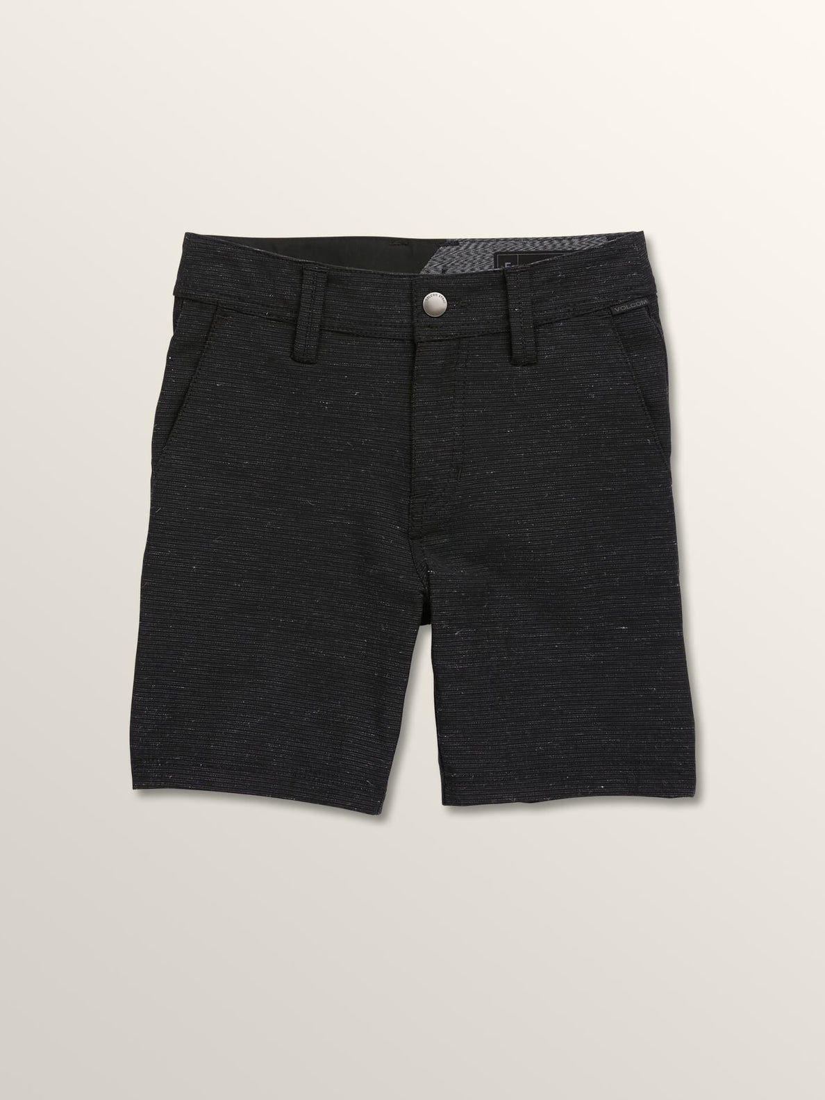 Little Boys Frickin Surf 'N Turf Slub Hybrid Shorts In Black, Front View
