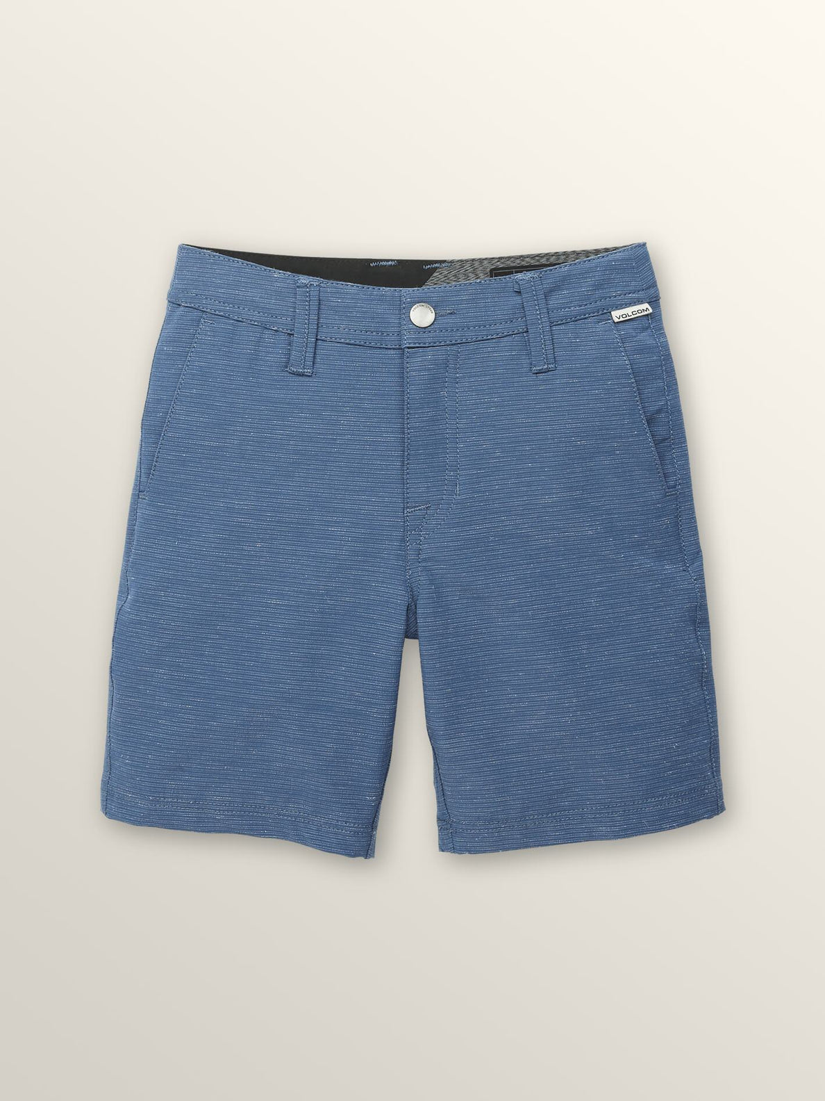 Little Boys Frickin Surf 'N Turf Slub Hybrid Shorts In Deep Water, Front View