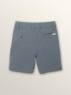 Little Boys Frickin Surf N' Turf Mix Hybrid Shorts In Deep Blue, Back View