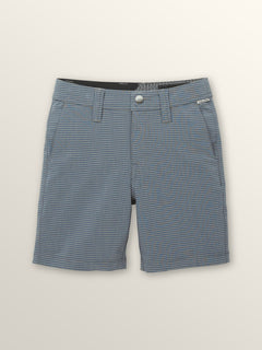Little Boys Frickin Surf N' Turf Mix Hybrid Shorts In Deep Blue, Front View