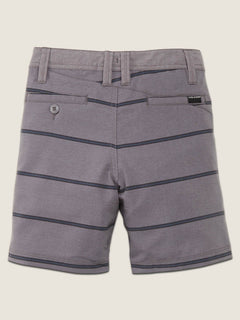 Little Boys Frickin Surf N' Turf Mix Hybrid Shorts In Gunmetal Grey, Back View